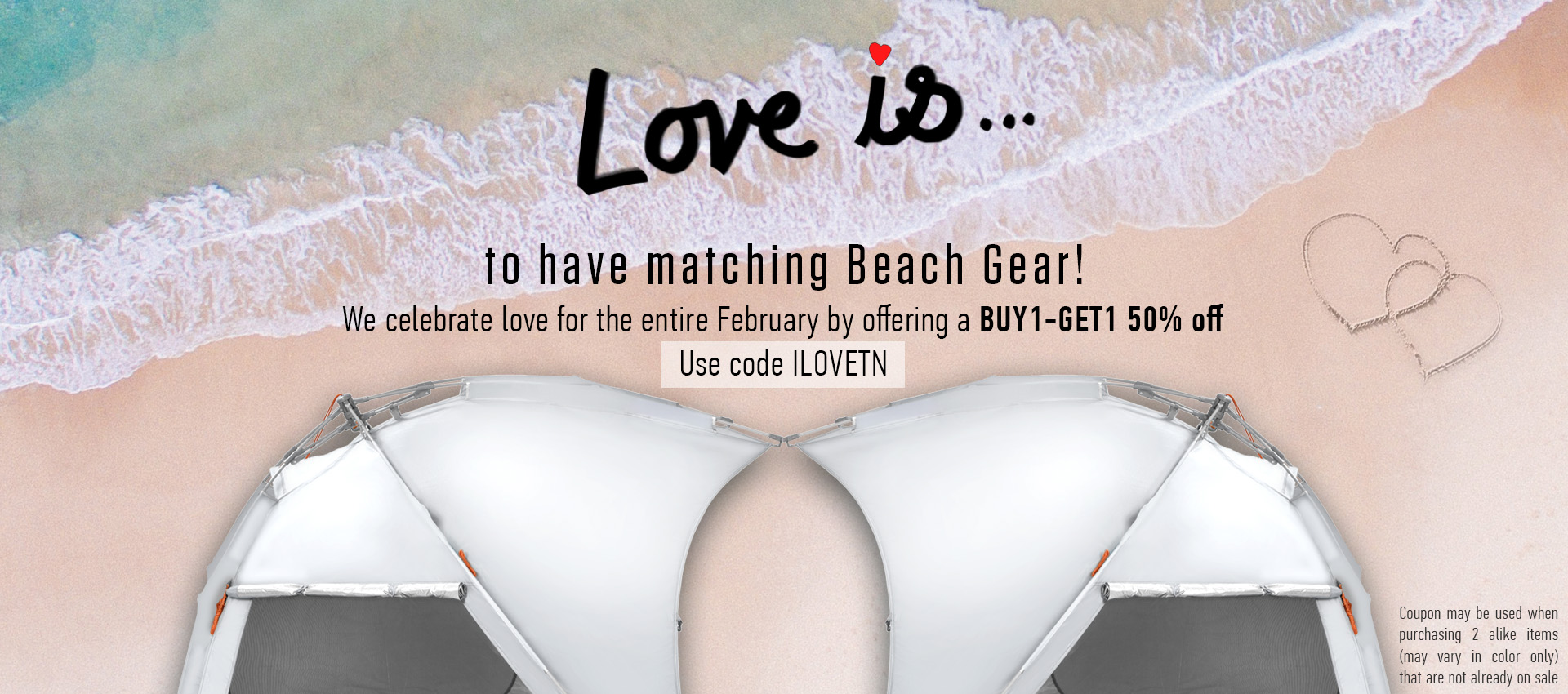 Terra Nation February Love Month - Matching Beach Gear - 1 MONTH