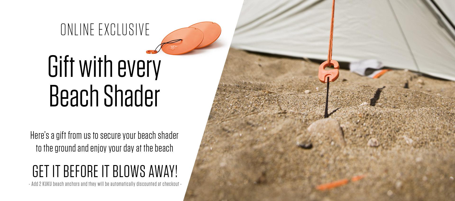 With every Beach Shader get 2 KUKU beach anchors free
